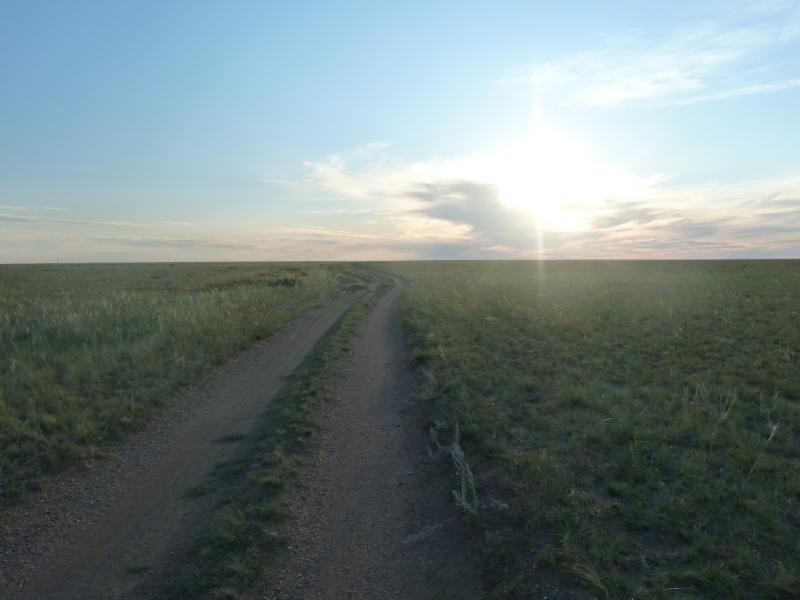20110806. Павлодар-Астана. Вечерняя степь под селом Тортуй.