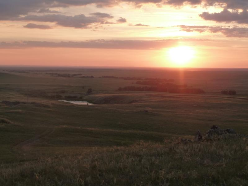 20110810. Павлодар-Астана. Долина ниже плотины водохранилища Жартас (Баймен).