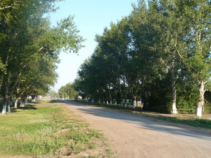 20110811. Павлодар-Астана. Улицы села Благодатное.