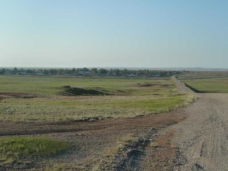 20110811. Павлодар-Астана. Подъём из Нововладимировки до железнодорожной станции Сарыоба.