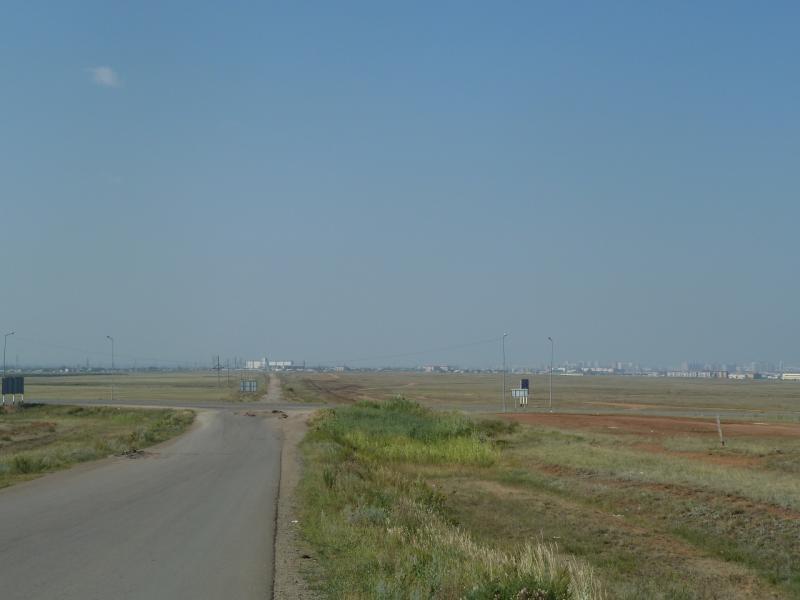 20110812. Павлодар-Астана. Астана со стороны села Шубар.