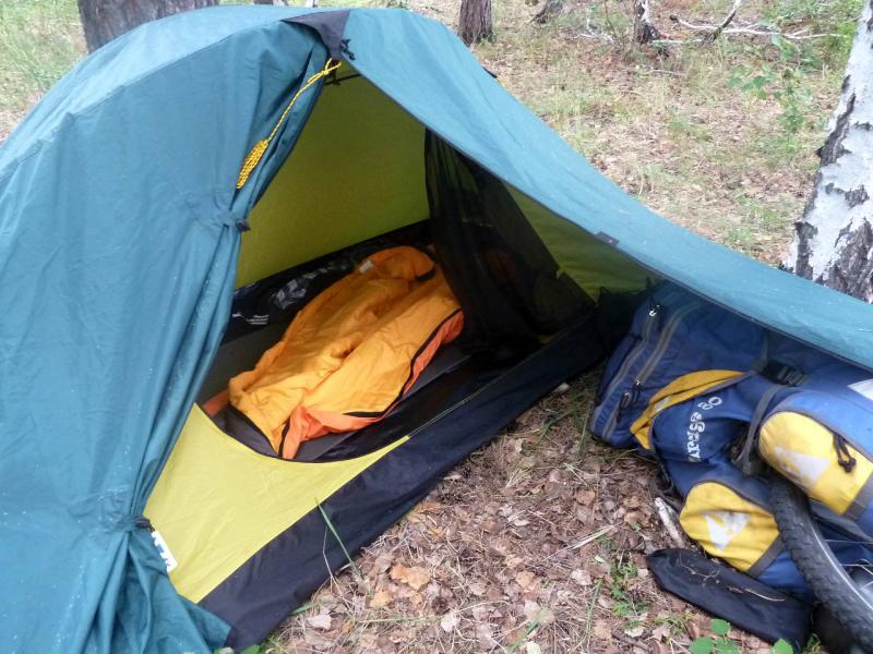 """Входная зона палатки """"Bask Clif"""" (2011)."""