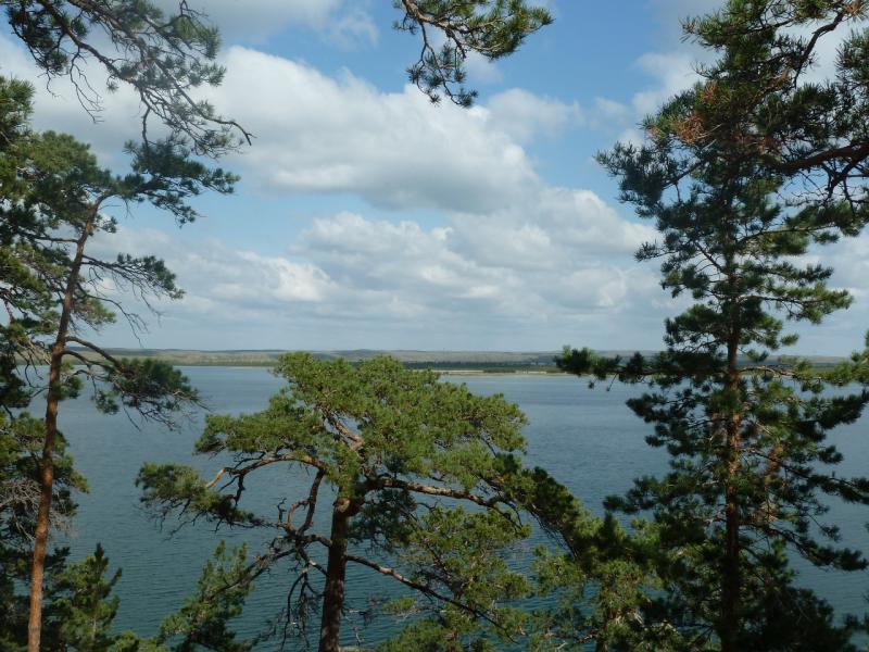 20110820. Боровое. Вид залива на юго-западной стороне озера Большое Чебачье.