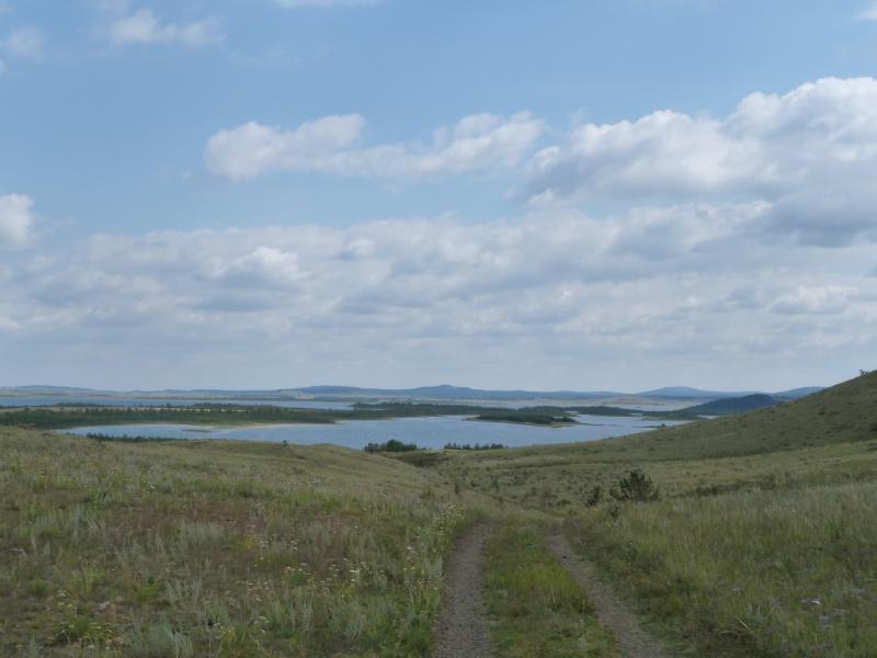 20110820. Боровое. Выход на озеро Малое Чебачье с северо-востока.
