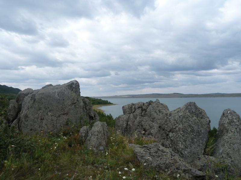 20110820. Боровое. Вид с восточной стороны озера Малое Чебачье.