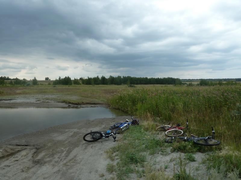 20110820. Боровое. Брод через приток на южной стороне озера Малое Чебачье.