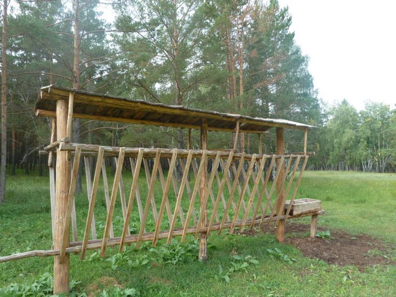 20110822. Боровое-Павлодар. Кормушка для маралов в заповеднике Боровом.