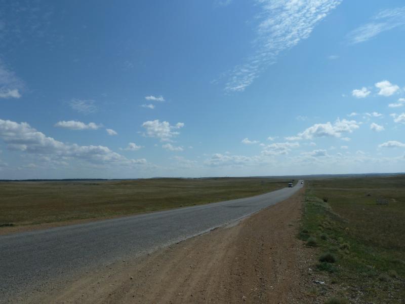 20110822. Боровое-Павлодар. Дорога от озера Жукей на посёлок Степняк.