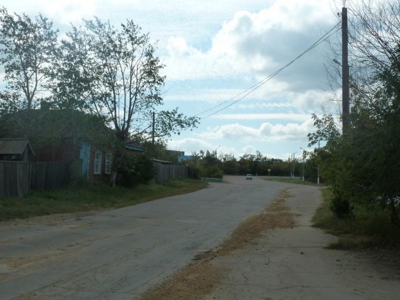 20110822. Боровое-Павлодар. Проезжаю через посёлок Степняк.