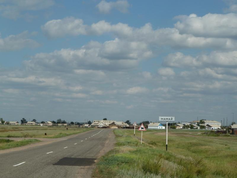 20110822. Боровое-Павлодар. Посёлок Мамай, на берегу одноимённого озера.