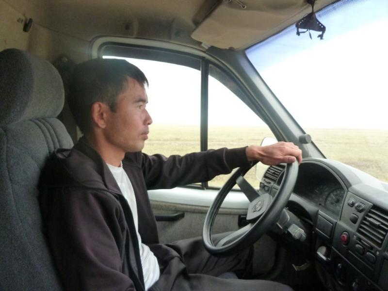 20110823. Боровое-Павлодар. Водитель попутки, подбросивший меня от Богембая до Бестобе.