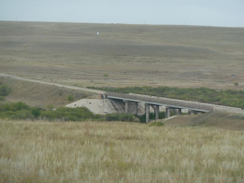 20110823. Боровое-Павлодар. Мост через реку Силети у села Изобильное.