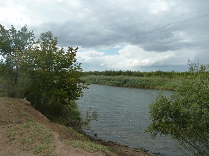 20110824. Боровое-Павлодар. Река Сиели у села Шолаксор.