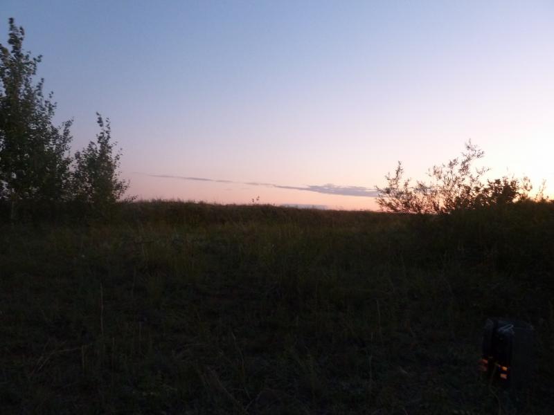 20110824. Боровое-Павлодар. Вечерний вид со стоянки на солёном озере Кумсаксор.