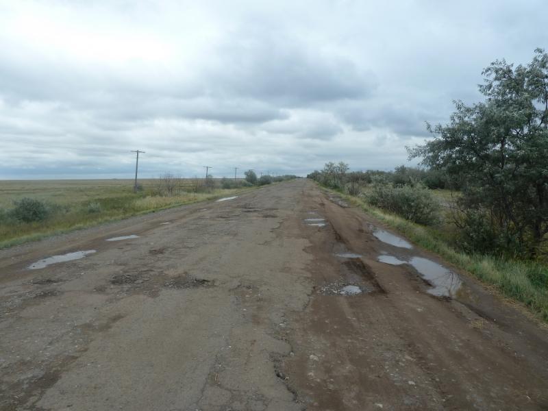 20110825. Боровое-Павлодар. О, снова твёрдое покрытие.