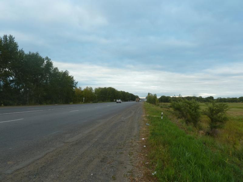 20110825. Боровое-Павлодар. Прохожу границу города, уже виден мост через Иртыш.