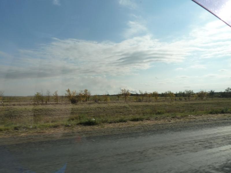 20110925. Чалдай-Павлодар. Вид на индустрию со стороны села Жетекши.