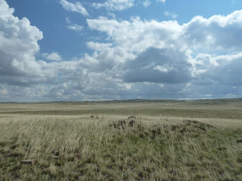 20120506. Канал Иртыш-Караганда: вид на восток от гидроузла #4.