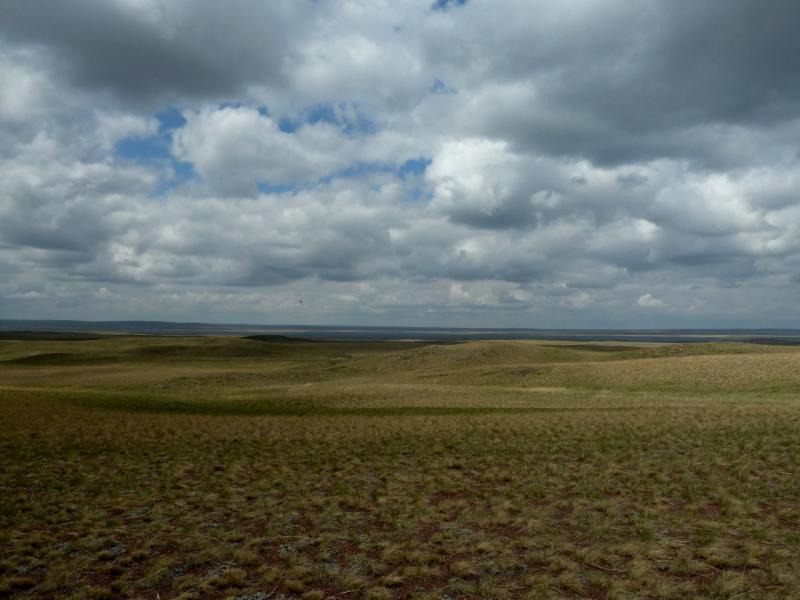 20120506. Канал Иртыш-Караганда: вид на водохранилище гидроузла #5.