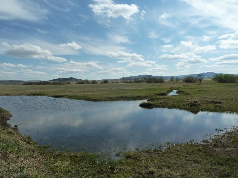 20120508. В Баянаул: водоёмы в северо-западных предгорьях Баянаула.