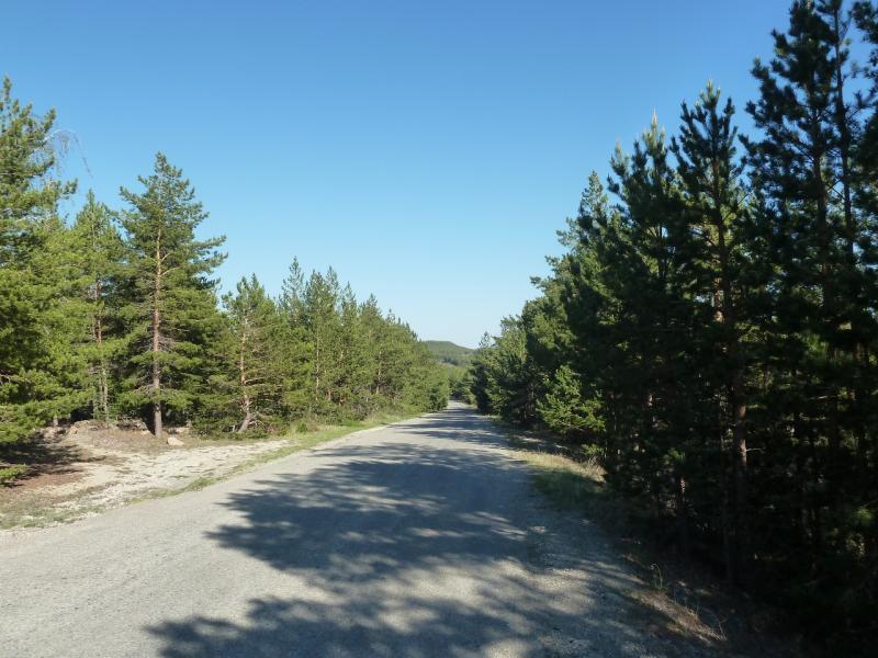 20120509. Ущельями Баянаула: спуск с перевала в посёлок Баянаул.