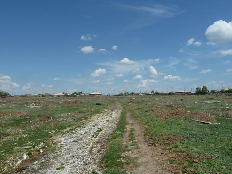20120513. Сосновыми борами ВКО: въезд в село Ундурус.