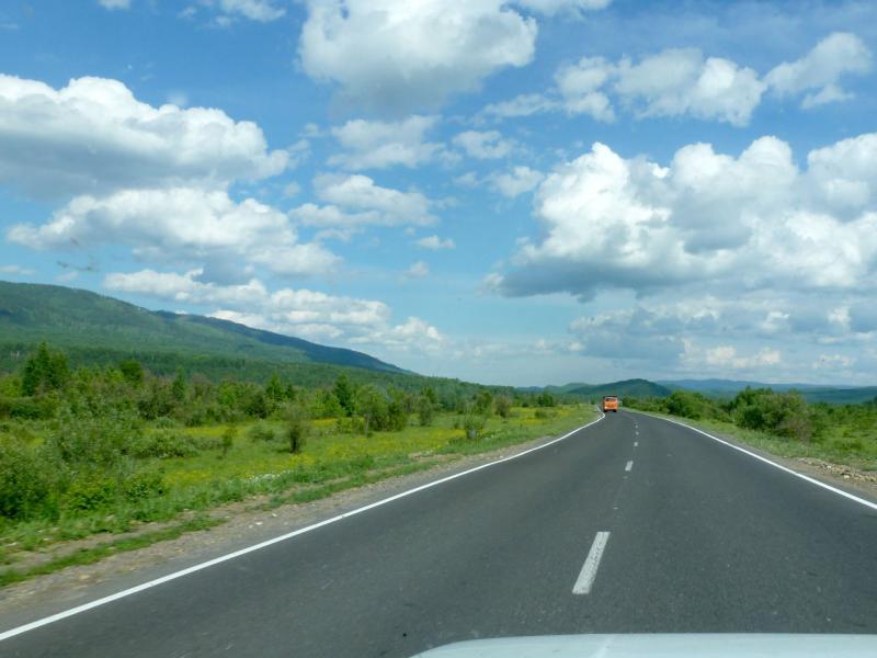 20180623. На шоссе A-164 (A-333), где-то у хребта Шиманская грива.