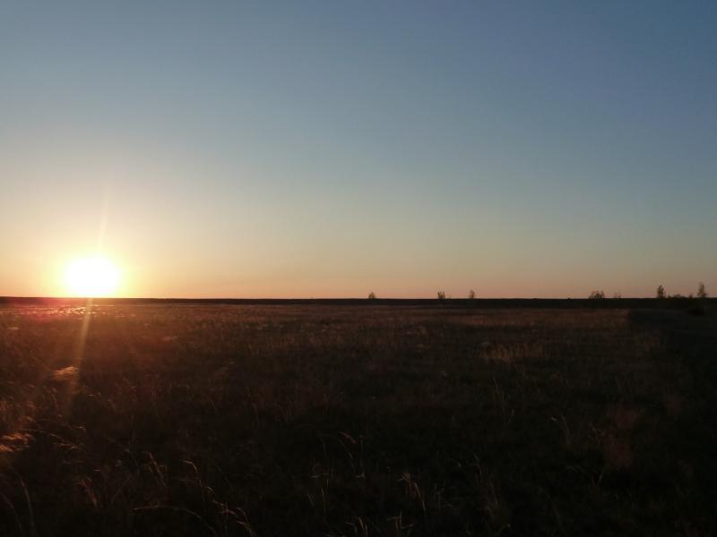 20120516. Краем Щербактинского района: закат между сёлами Степное и Северное.