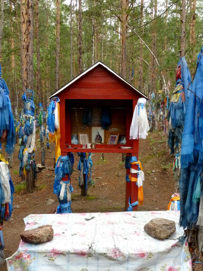 20180625. Ритуальное место в сосновом бору у Барагханского минерализированного источника.