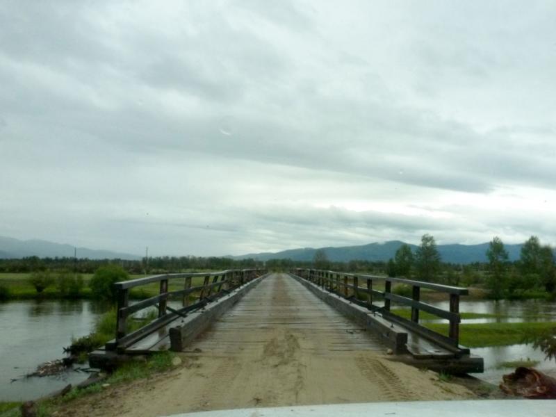 20180625. Мост через реку Улюн, за пару километров до её слияния с Бергузином.