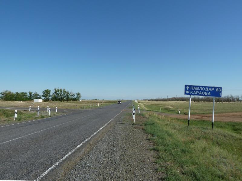 20120525. Домой, в Павлодар: до Павлодара остаётся меньше половины пути.