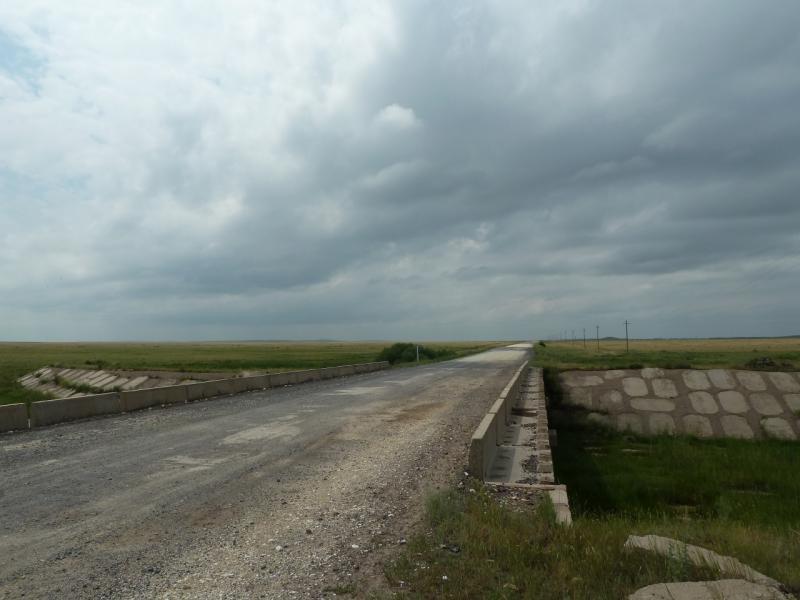 """20120630. Баймен-2012: мост через русло речки """"Сухой Лог""""."""