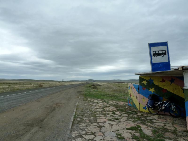 """20130429. На трассе A-345 """"Каркаралинск - Караганда""""."""