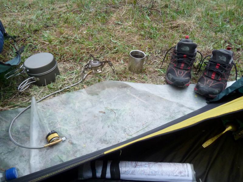 20130430. Мои походные прихожая, кухня и столовая.