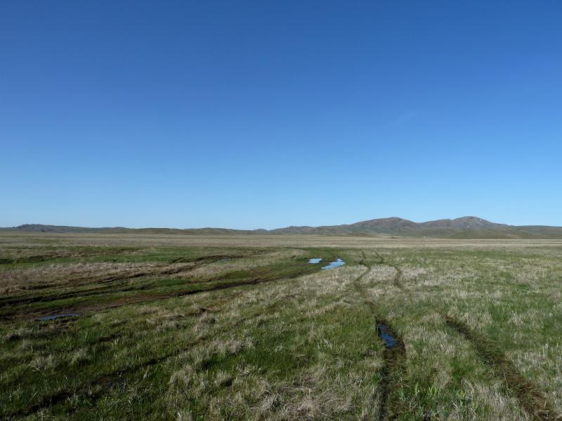20130503. Подтопленная долина урочища Агашольке.