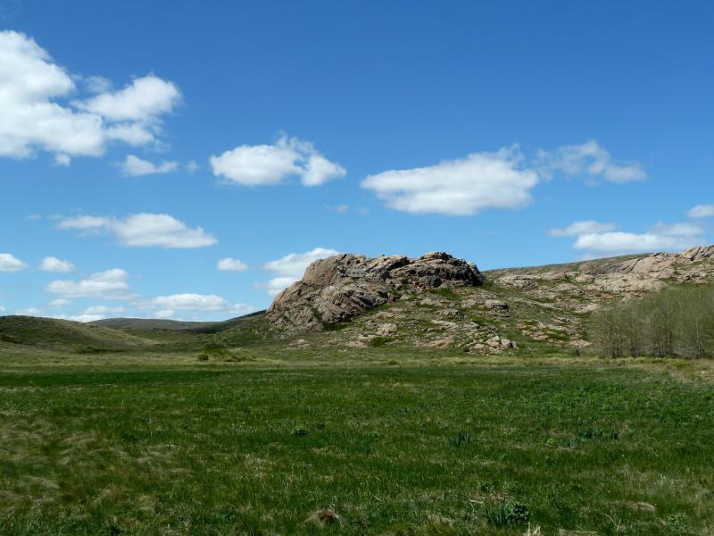 20130504. Луговины у подножья горы Аксоран.