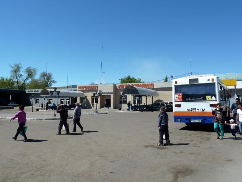 20130507. Автобусная станция города Балхаш.