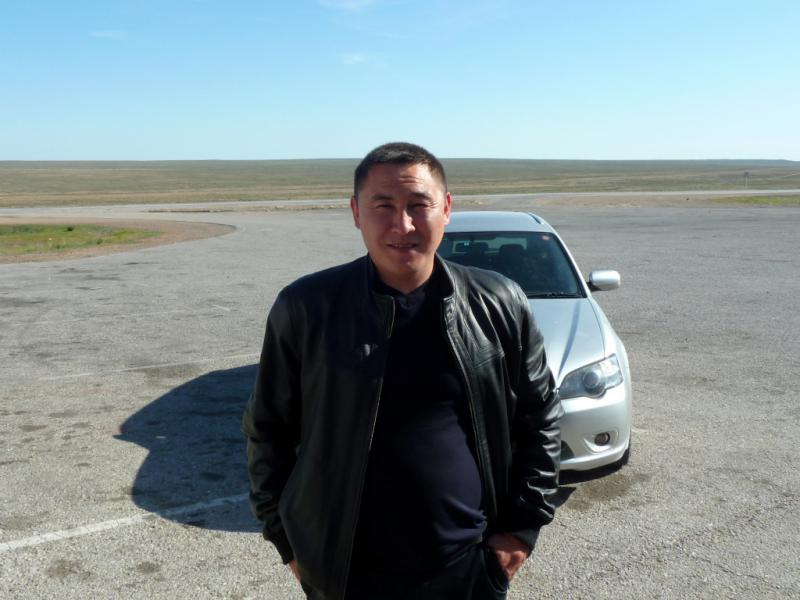 20130508. Участковый полицейский села Сарыозек.