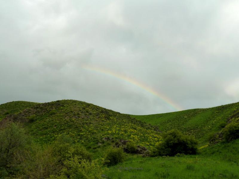 20130513. Радуга в горах Заилийского Алатау.