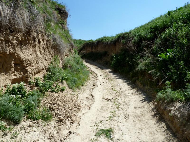 20130518. Горной дорогой из села Есик, вверх на хребет ущелья.