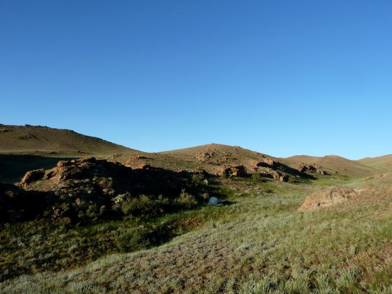 20130522. Вид на место стоянки в горах Торайгыр.