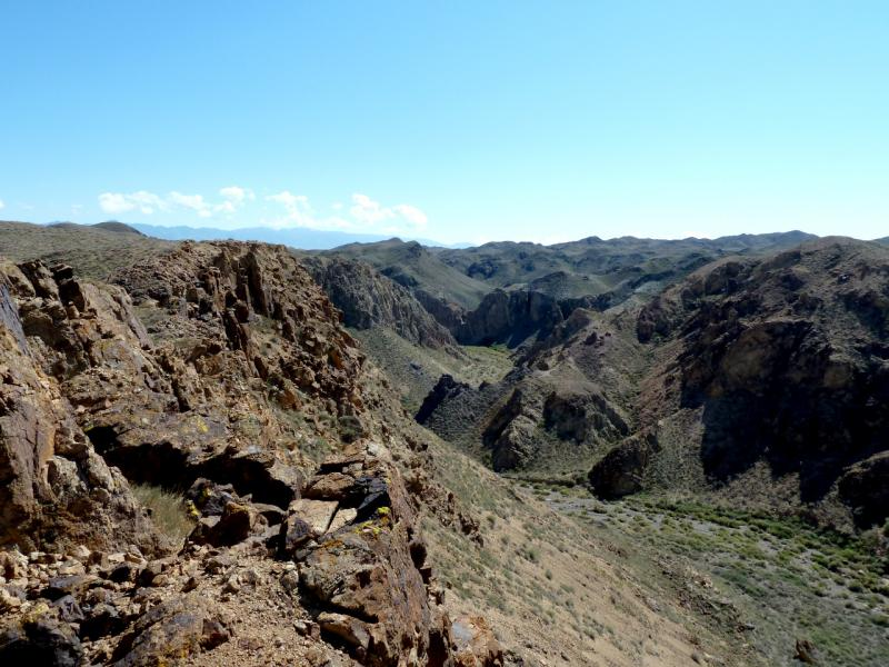 20130522. Вид на ущелья каньона Бартогай.