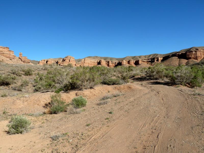 20130522. На выходе из бартогайского каньона.