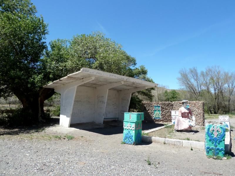 20130523. Автобусная остановка урочища Сарыкамас.