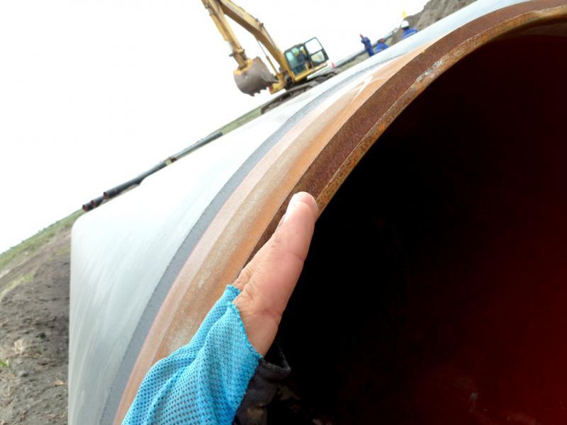 20130524. Толщина трубы газопровода не менее полутора сантиметров.