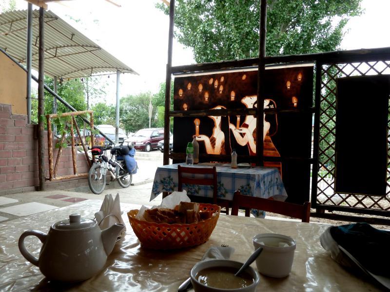 20130524. В кафе городка Жаркент.