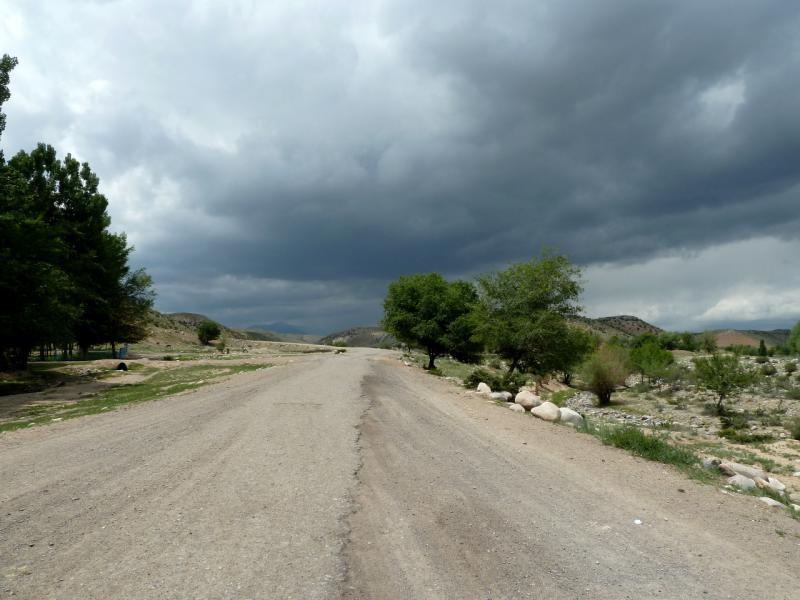 20130525. Дорога на северо-запад от села Енбекши.