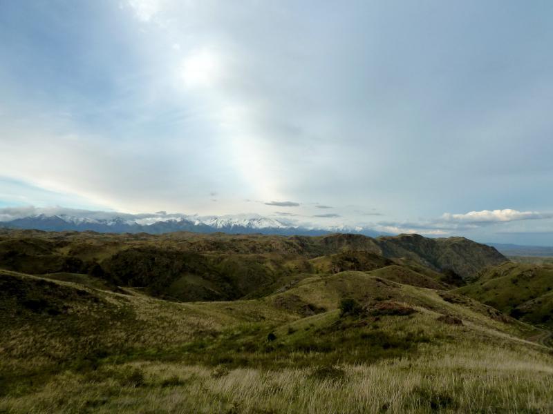 20130525. Вид с места стоянки на горы Койтас, а за ними на снежные вершины пограничья с Китаем.