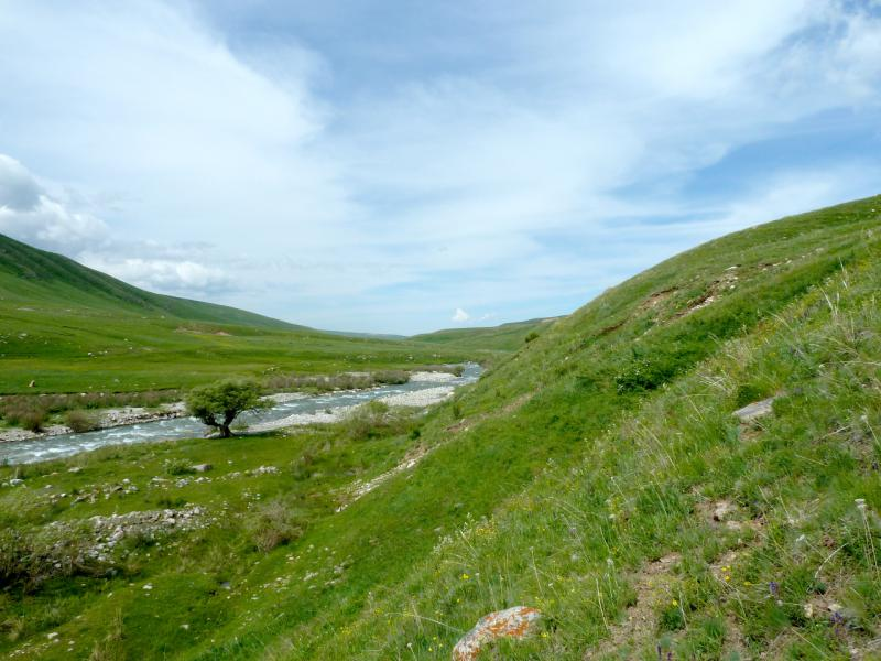20130527. Холмами вдоль реки.