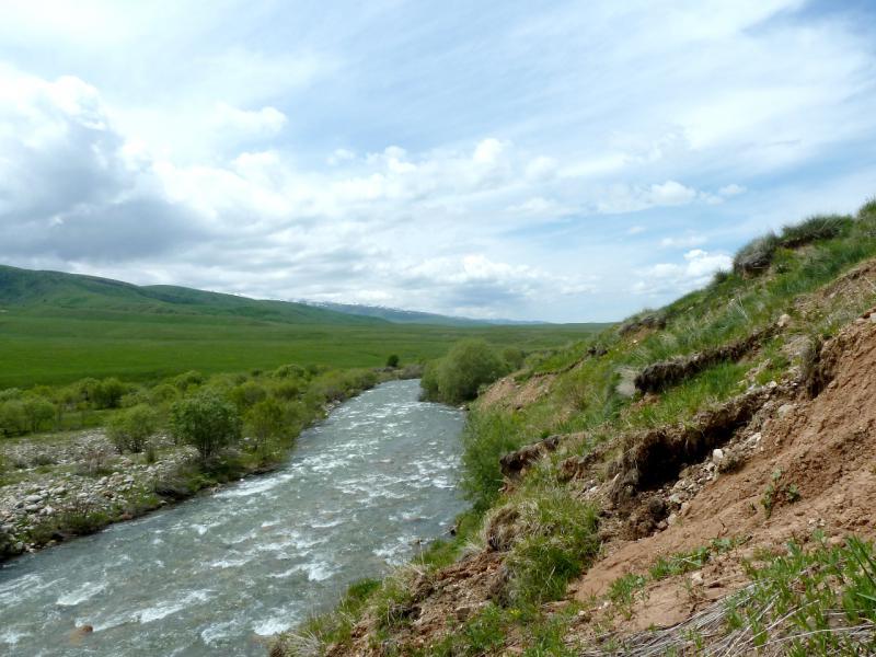 20130527. Вид на обрыв у реки.